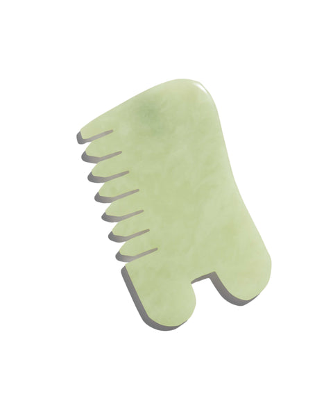 ISLAND JADE Gemstone Massaging Comb + Gua Sha