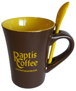 Raptis Coffee Mug with Spoon