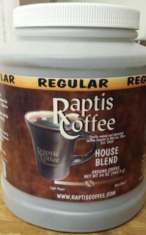 34 oz House Blend Can-Raptis Coffee