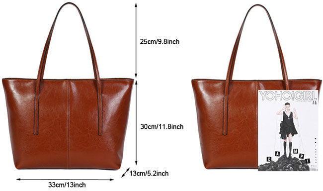 Large Leather Tote Bags for Women