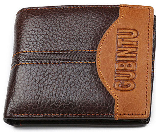 Leather Men's Wallet With Eagle