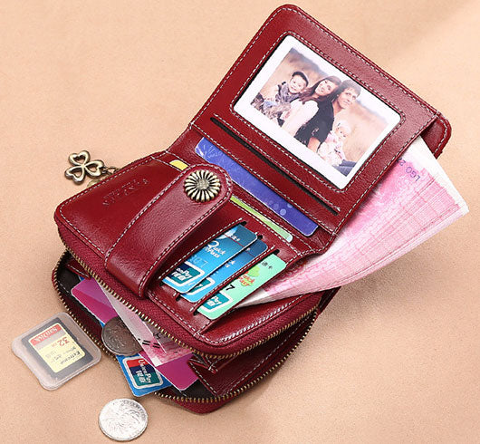 Leather Small Wallets for Women