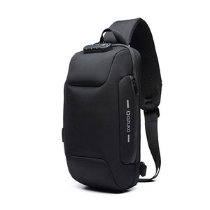 Anti Theft USB Charging Crossbody Waterproof Chest Bag