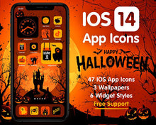 Load image into Gallery viewer, iPhone iOS14 Halloween Aesthetic Home Screen