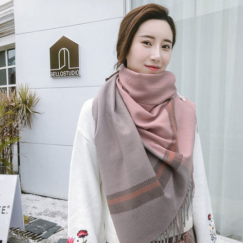 Women's Fashion Long Shawl Winter Warm Large Scarf