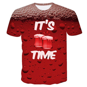 Beer Print Men's T-shirt