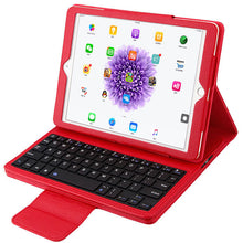 Load image into Gallery viewer, iPad Air Bluetooth Keyboard Leather Case