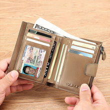 Load image into Gallery viewer, RFID Luxury Men Leather Short Wallet