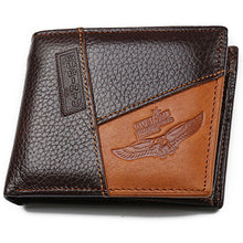 Load image into Gallery viewer, Genuine Men Leather Wallet With Eagle