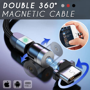 Double 360° Magnetic Cable - 6.56FT