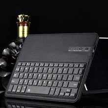 Load image into Gallery viewer, iPad 2/3/4 Bluetooth Keyboard Leather Case