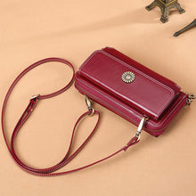 Load image into Gallery viewer, Crossbody Long Leather Wallet
