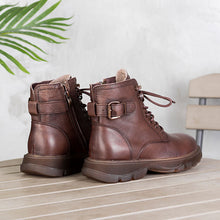 Load image into Gallery viewer, Leather Combat Boot - Winter 2020 for Women