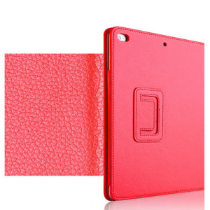 "iPad (6th Gen) Case - 9.7"" Matte Flip Litchi Leather iPad Cover"