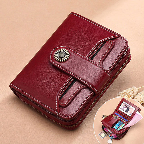 Luxury Women Leather Short Wallet