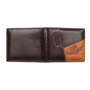Genuine Men Leather Wallet With Eagle