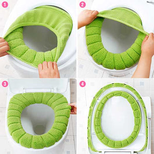 Warm Comfy Toilet Seat Cover Pad