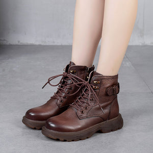 Leather Combat Boot - Winter 2020 for Women