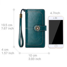 RFID Leather Wallets for Women
