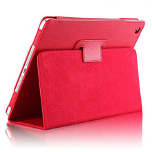 "Load image into Gallery viewer, iPad Mini 4/5 Case - 7.9"" Matte Flip Litchi Leather iPad Cover"