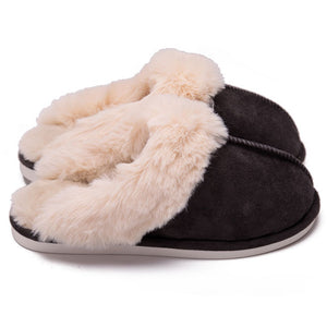 Warm Winter Fluffy Suede Comfy Slippers