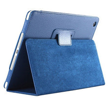 "Load image into Gallery viewer, iPad Pro 11"" Case - Matte Flip Litchi Leather iPad Cover"