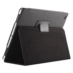 "iPad Air2 Case - 9.7"" Matte Flip Litchi Leather iPad Cover"