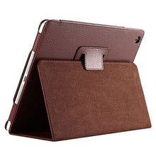 "Load image into Gallery viewer, iPad Air2 Case - 9.7"" Matte Flip Litchi Leather iPad Cover"