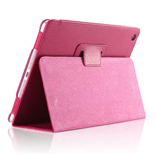 "Load image into Gallery viewer, iPad (5th Gen) Case - 9.7"" Matte Flip Litchi Leather iPad Cover"