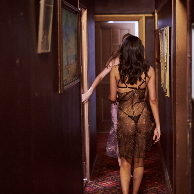 """Take A Walk"" Leopard print lingerie & luxury sleepwear collection"