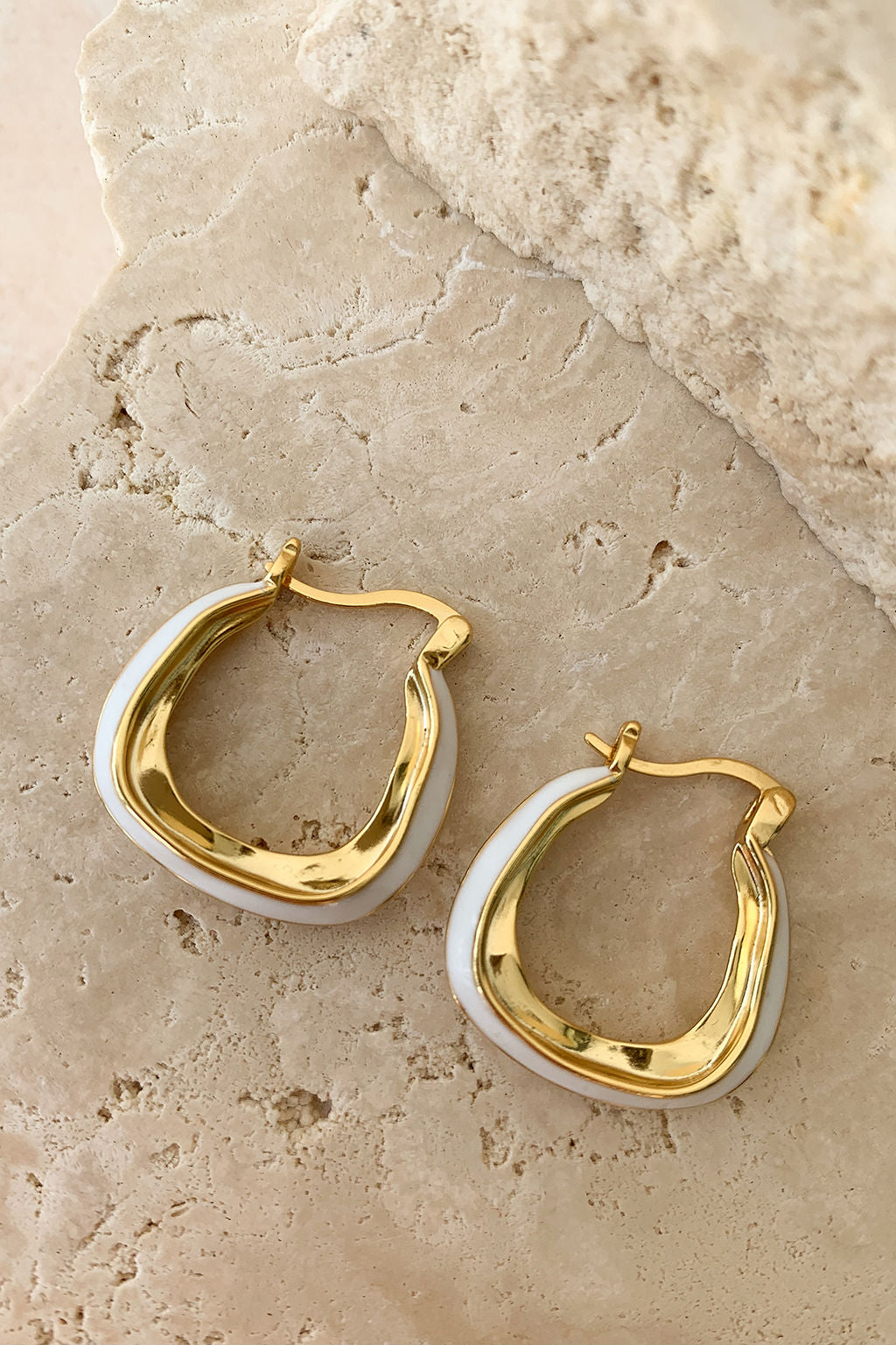 The Glam • 18k Gold Plated Hoop