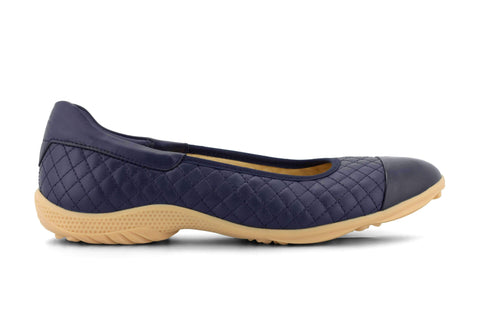 Slip On Casual Golf Shoes| Quilted Navy| Ladies| Royal Albartross Runway Navy