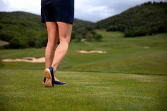 Slip On Casual Golf Shoes| Quilted Navy| Ladies| Royal Albartross Runway Navy Thumbnail