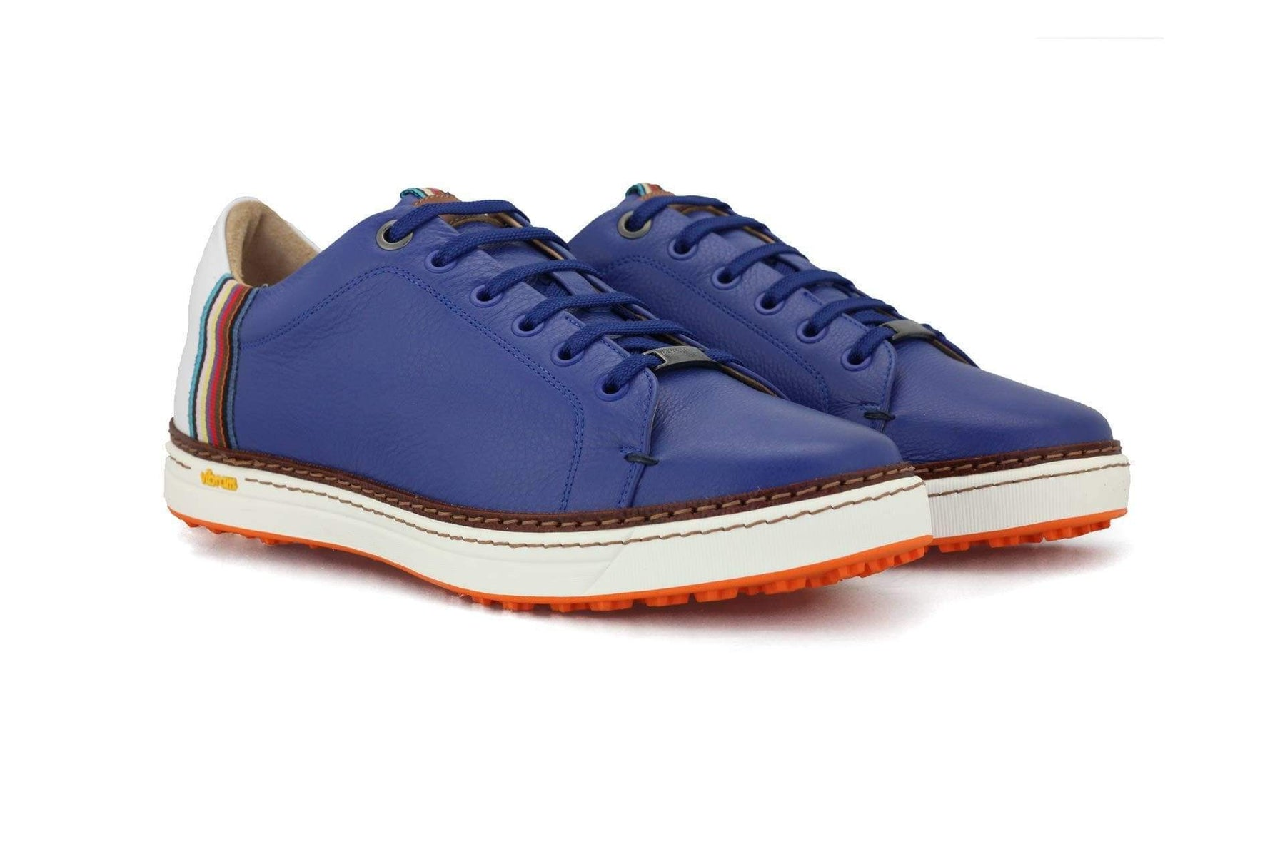 Men's Spikeless Golf Shoe | Italian Style & Comfort | Royal Albartross The Woodley Blue
