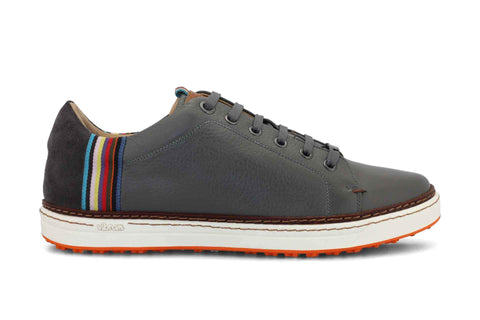 Men's Spikeless Golf Shoe | Italian Style & Comfort | Royal Albartross The Woodley Grey