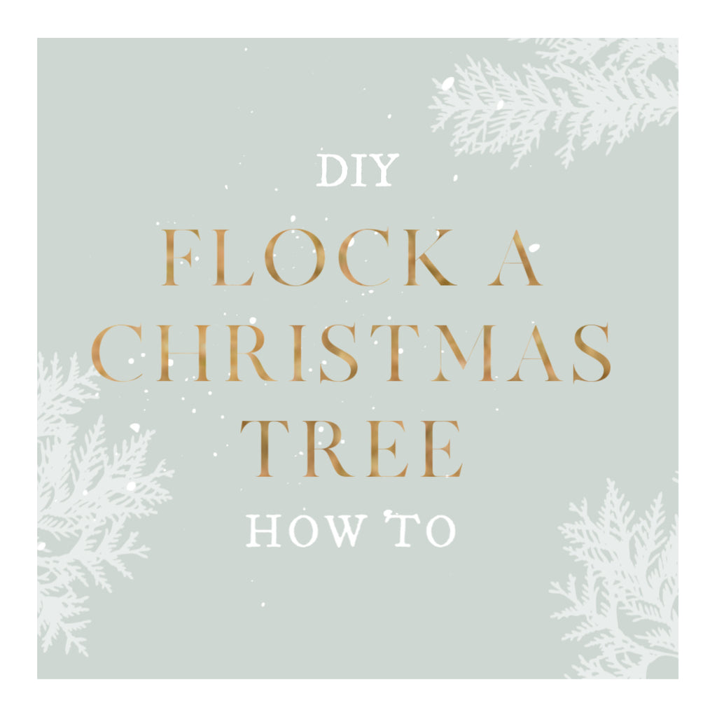 How To Flock an Artificial Christmas Tree The Easy Way - DIY