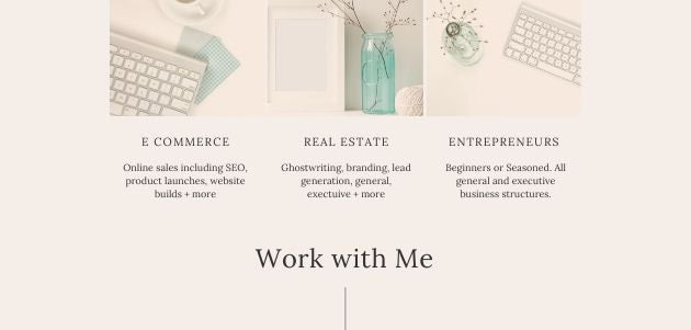 Work With Me on E Commerce SEO Branding and More