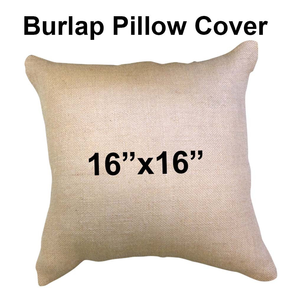 Burlap Pillow Cover 16