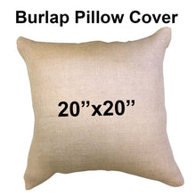 "Burlap Pillow Cover 20"" x 20"""
