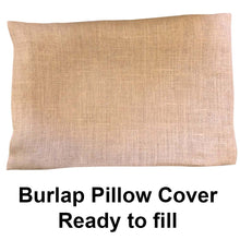 "Burlap Pillow Cover 16"" x 16"""