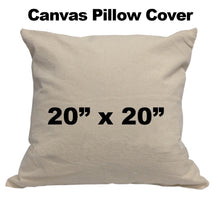 "Blank Cotton Canvas Pillow Cover - 20"" x 20"""