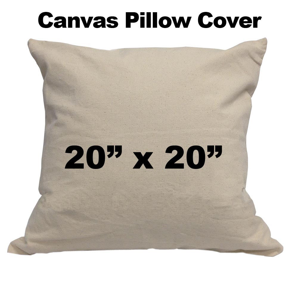 Blank Cotton Canvas Pillow Cover - 20