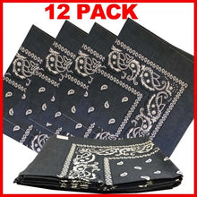 100% Cotton - Paisley Bandana - 12 Pack