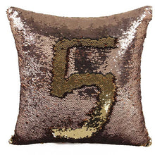 "Mermaid Pillow Case (16"" x 16"") Reversible Sequin Throw Pillow"