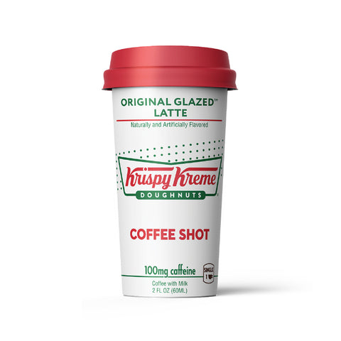 2 oz coffee shot, Krispy Kreme