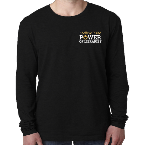Men's Long Sleeve T-Shirt, small logo Triblend