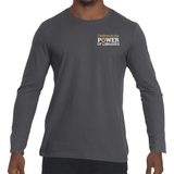 Men's Long Sleeve T-shirt, small logo Cotton