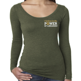 Women's Long Sleeve T-Shirt, small logo Triblend