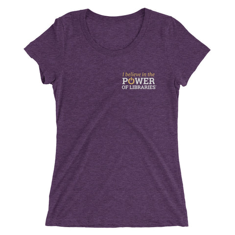 Women's Short Sleeve T-shirt, small logo - Tri-blend