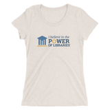 Women's Short Sleeve T-shirt, center logo - Tri-blend
